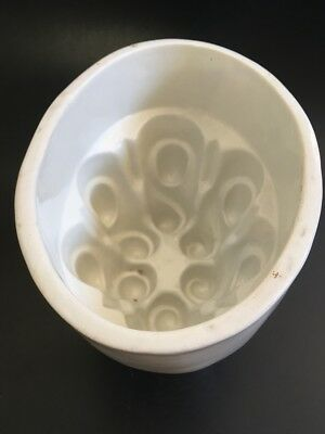 ANTIQUE Ceramic Jelly Mould - Large - English