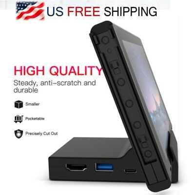 For Nintendo Switch Docking Station Mini Replacement Dock Case Travel Stand NEW