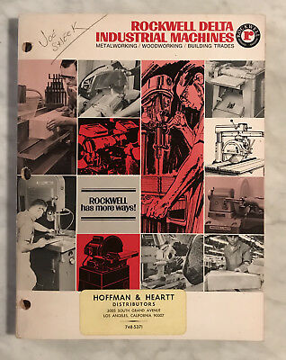 ROCKWELL DELTA  INDUSTRIAL MACHINES CATALOG 1968 Great Shape!