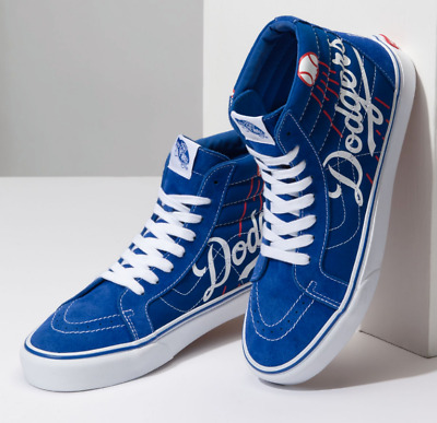 0cde1c43bf1 VANS X LA DODGERS SK8-Hi Mens Shoes (NEW) LOS ANGELES LAD Baseball ...