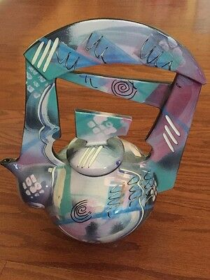 Tom Hubert Handmade Unique Porcelain Teapot by Highly Collected Artist