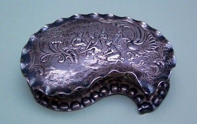 Antique Edwin Thompson Bryant London Sterling Silver Export Snuff Box