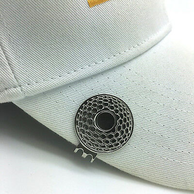 Golf Magnetic Hat Clips 3 Pack Fit Any Ball Marker Lightweight Metal Accessories