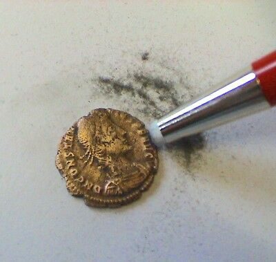 Coin Cleaning Brush. - Fibre Glass & Brass Bristles + Excellent Cleaning CDROM!!