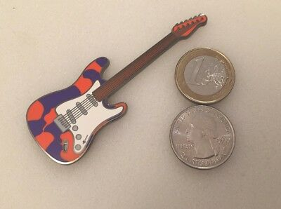☆ Geoguitar geocoin ax Psychedelic purple /orange unactivated