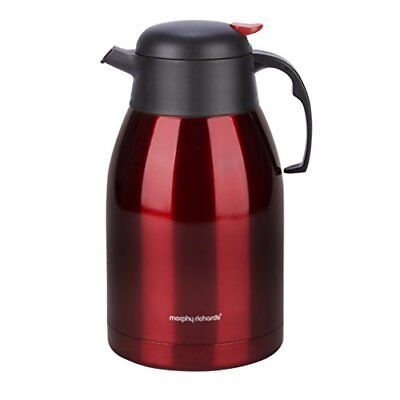 Morphy Richards, thermos, 2000ml, in acciaio inossidabile, rosso, 14x (Y3z)
