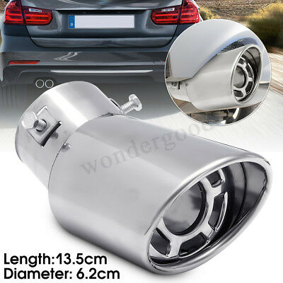 Universal Stainless Steel Car Rear Round Exhaust Muffler Tail Pipe Trim Tip -UK