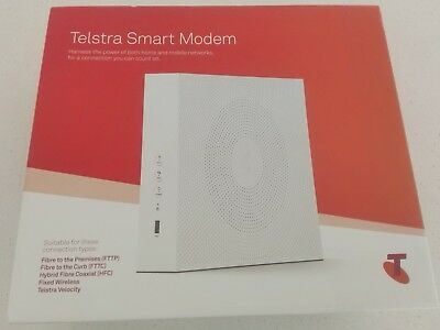 Telstra Smart Modem. Wifi Router, Like New, in Box. Model DJA0230 Technicolor