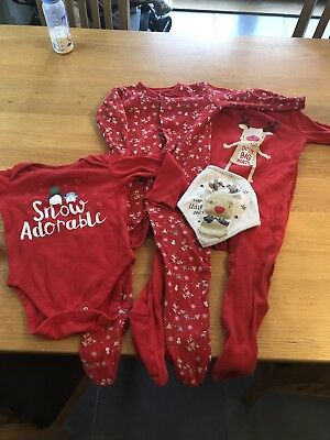 Boys Girls Baby Florence & Fred F&F Christmas Clothes Bundle 12-18 Months