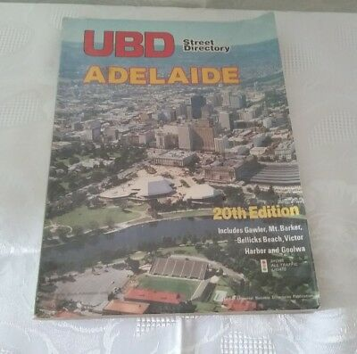 Vintage Adelaide UBD Street Directory 20th edition 1982