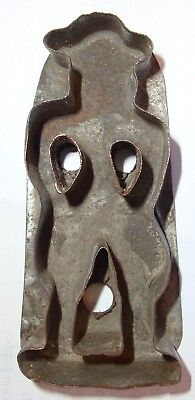 19th C PA Dutch Miniature Man Cookie Cutter Hand Made Tin Smith NOT A FAKE Old!