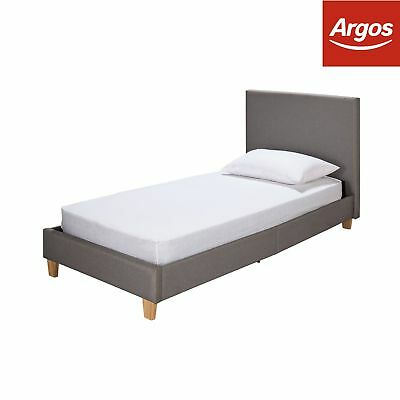 Argos Home Oliver Single Bed and Elliot Mattress - Grey