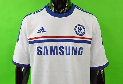 The Blues  2013-2014 adidas Chelsea FC Away Shirt Jersey SIZE XL (adults)