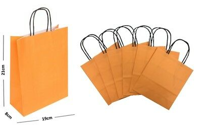 Pastel Orange Paper Gift Bags BB Twisted Handles Carrier / Party Loot Favour Bag