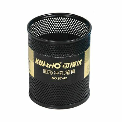 Round Metal Fashion Mesh Pen Holder With A Sponge Base To Protect Metal Tip MK