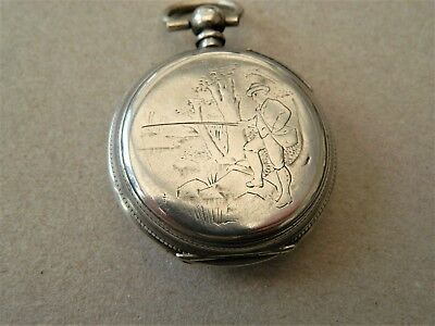 french silver pocket watch