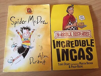 2 Children's Books Horrible Histories And Spider Mcdrew