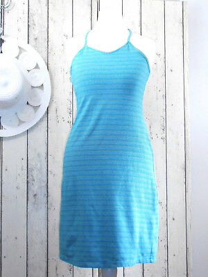 f0c0e0a266054 JOLIE ROBE ETE Bleue Fines Rayures Perles Old Navy T 32 34 - EUR 4 ...