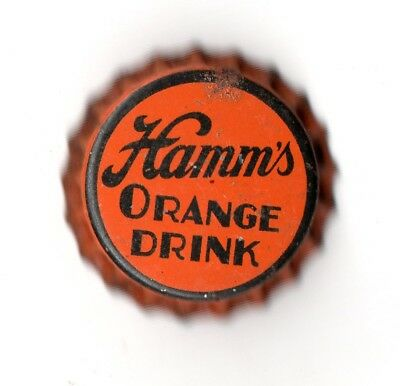 1920s THEODORE HAMM BREWERY, ST PAUL, MINNESOTA HAMM'S ORANGE DRINK BOTTLE CAP