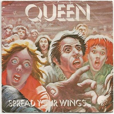 "SP 45T 7"" vinyl -  QUEEN - spread your wings / sheer heart attack  France 1978"