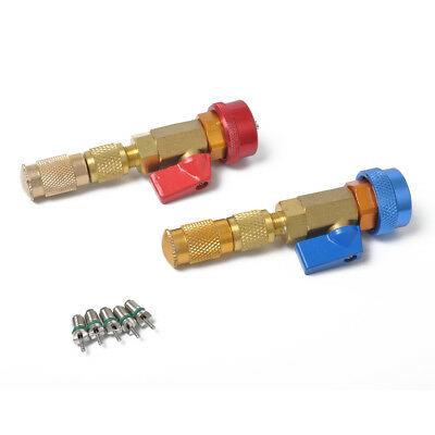 Fit Air Conditioning R134A Spool Quick Release Installation Tool+R134 Valve Core