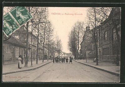 CPA Troyes, Faubourg Croncels 1918