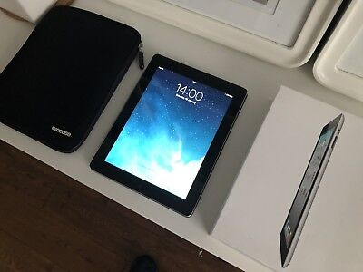 Apple iPad 2 32GB, Wi-Fi + Cellular, 9.7in - Black, Box & Incase Sleeve Bundle
