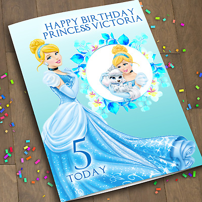 Princess Cinderella 1Personalized Birthday Card Daughter Disney Niece Girl