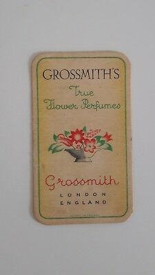 Carte Ancienne Grossmith True Flower perfumes  * Non ref.