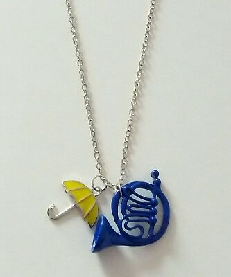 How I Met Your Mother Necklace Blue French Horn & Yellow Umbrella - Gift Bag