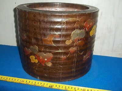 Antique Late 19Th Century Wooden Japanese Planter With Liner Shibayama
