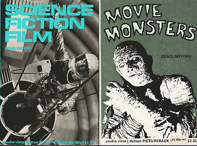 2 Filmbücher von Denis Gifford: MOVIE MONSTERS und SCIENCE FICTION FILM Studio V