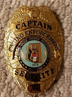 Pascua Yaqui Indian Reservation Captain Of Casino Enforcement Arizona Badge