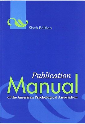 [PDF] Publication Manual of the American Psychological Association 6th Edition
