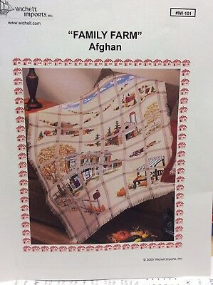 "Wichelt Imports ""Family Farm Afghan"" Cross Stitch"