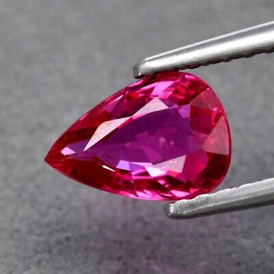 0.86ct 7.3x5mm VS Pear Natural Unheated Pink Red Ruby, Mozambique