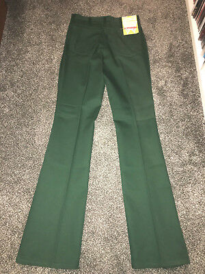 New With Tags Old Stock Vintage Wrangler Wrancher Jeans Boot Cut 29 x 36 Green