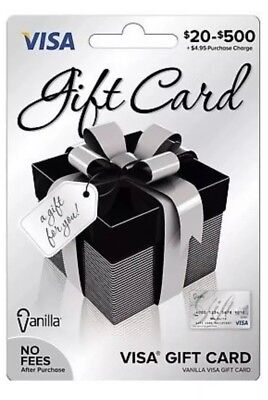 $400 VISA Card NO Fees - Activated ready to use, FREE SHIPPING