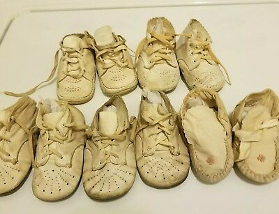 Vintage Baby's Shoes- Five pairs