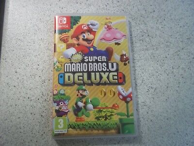 Nintendo SWITCH:NEW SUPER MARIO BROS U DELUXE COMPLETE. EMPTY BOX ONLY.PAL.