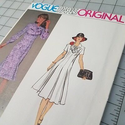 Vintage Voque Paris Original 70s 80s Dress pattern 1421 size 10 Molyneux