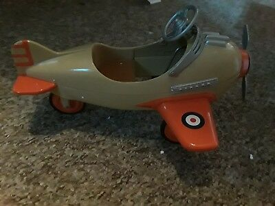 Signed Hallmark Kiddie Car Classics 1941 Steelcraft Spitfire Airplane Peddle Car
