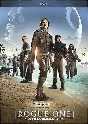 Rogue One: A Star Wars Story DVD with case. No cover artwork
