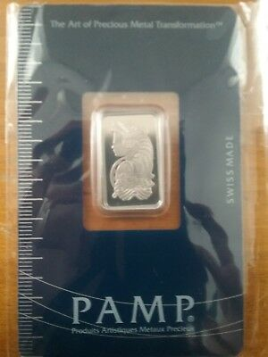 5 gram Platinum Bar - PAMP Suisse - Fortuna - .9995 Fine in Sealed Assay Card
