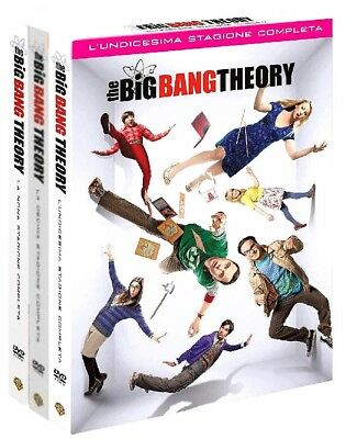 THE BIG BANG THEORY STAGIONI 9, 10 e 11 (8 DVD) COFANETTI SERIE TV WARNER VIDEO