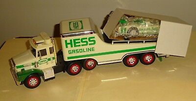 1988 HESS TOY TRUCK & RACER in the Original Box with Inserts