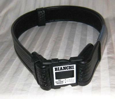 "Bianchi Accumold Elite Duty Basketweave Belt Medium 34""-40"" Waist Black 671744"