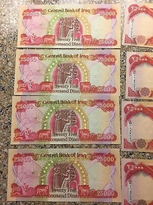 25000 NEW IRAQI DINAR 2003 UNCIRCULATED BANKNOTE IQD-CERTIFIED 200,000 Worth.