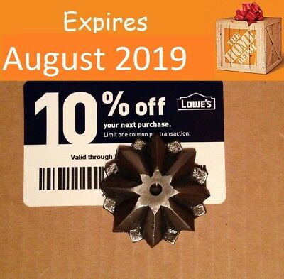 Twenty (20x) Lowes 10% Coupons for Home Depot only Exp NOVEMBER 15, 2019