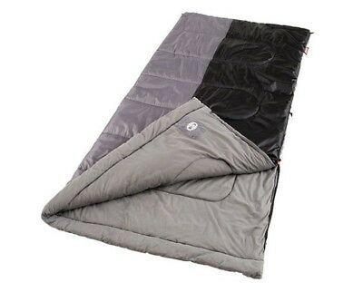 Coleman Biscayne Big and Tall Warm Weather Adult Sleeping Bag Outdoor Camping